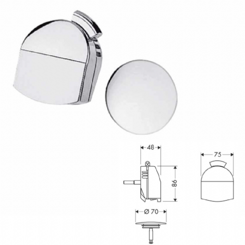 Hansgrohe Exafill Plus Bath Filler Finish Set In Chrome - Model 58128000